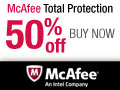 50% OFF McAfee Total Protection 2013! Final Price: $44.99