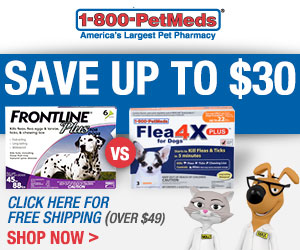 $8 Off Any Order with Code at 1-800-PetMeds.