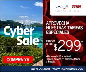 LAN Airlines Cyber Monday Sale