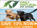 Save 10% on Natural Pet Items