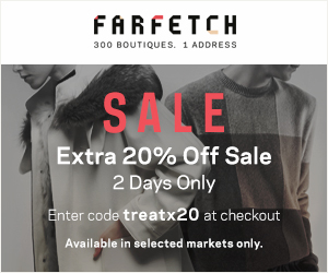 Save 20% off all sale items at Farfetch.