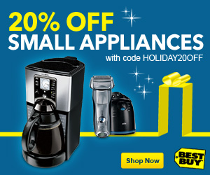300x250 Best Buy - 20% Off Select Small Appliances with Coupon Code