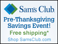 Sams Club Pre-Thanksgiving Savings Event Live Now!