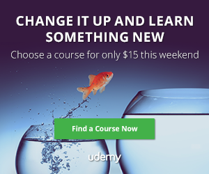 Udemy coupon code only $15 course