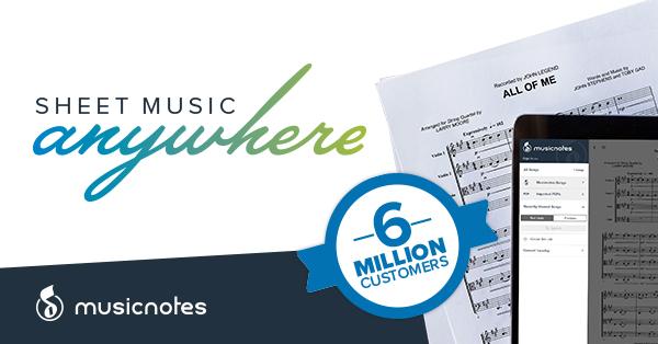 Sheet Music Anywhere at Musicnotes.com