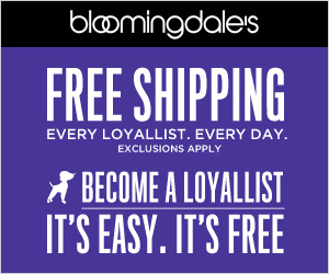 Friends & Family! Take 25% off a great selection of items at Bloomingdales.com. PLUS, free shipping. Offer automatically applied at checkout. Valid through Apr 15.