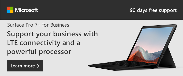 Microsoft Surface Pro 7+ for Business - Support Your Business With LTE Connectivity and a Powerful Processor [RJOVenturesInc.com]