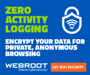 Webroot WiFi Security VPN Zero Logging