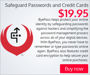 Safeguard passwords and credit cards with ByePass�