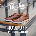 10% off Florsheim with code: LNK10