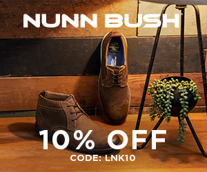 Nunn Bush 10% off with code: LNK10