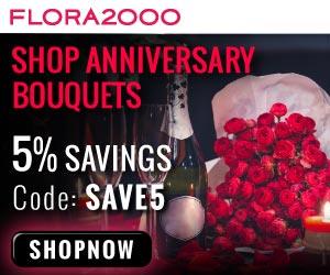 Send Anniversary Flowers Worldwide Through Flora2000
