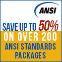 Save up to 50% on ANSI Standards Packages