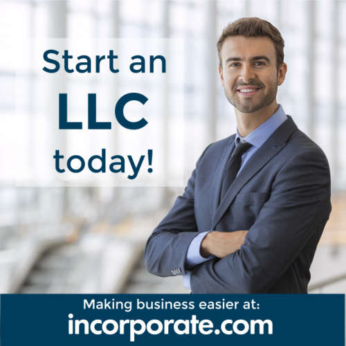 Start an LLC today online at incorporate.com