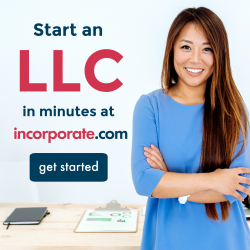 Form an LLC in minutes at incorporate.com with button