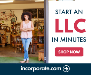 Start LLC today at incorporate.com