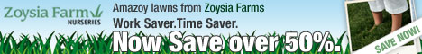 Amazoy Lawns from Zoysia Farms, Work Saver, Time Saver Save over 50%