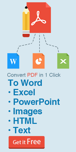 Convert PDF files to multiple popular document formats, including Microsoft Word, Excel, PowerPoint, and more.