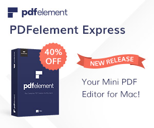 40% Off Wondershare PDFelement Express for Mac