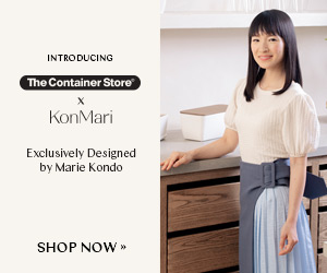 In partnership with KonMari, The Container Store is introducing their new collection of sustainable organizers exclusively designed by Marie Kondo. Shop Now!