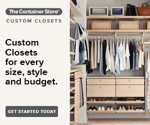 Custom Closets  with hanging shirts and shoes