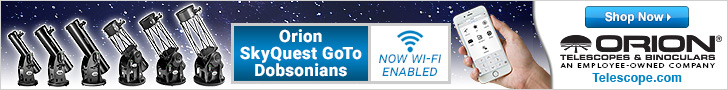 Orion's WiFi Enabled DOB Telescopes automatically locate and track celestial objects using your smartphone/tablet.