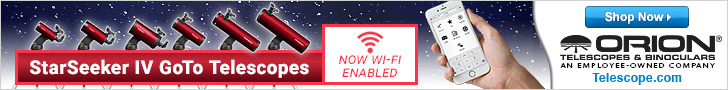 Orion's WiFi Enabled Telescopes automatically locate and track celestial objects using your smartphone/tablet.