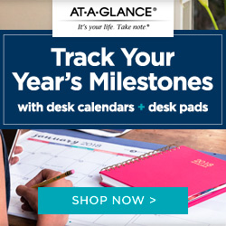 At-A-Glance: Track Your Year's Milestones with Desk Calendars & Desk Pads