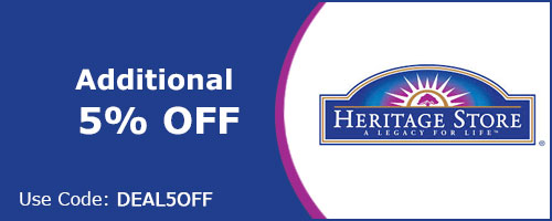 Additional 5% off on Heritage products