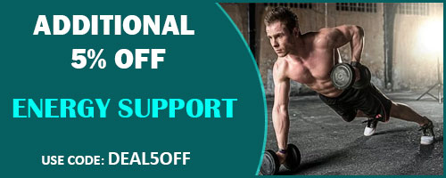 Additional 5% off on Energy support products