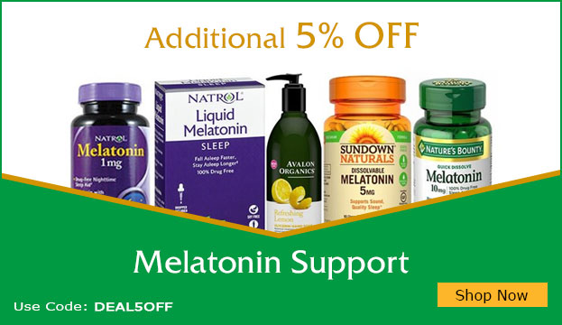 Additional 5% off on Melatonin support products