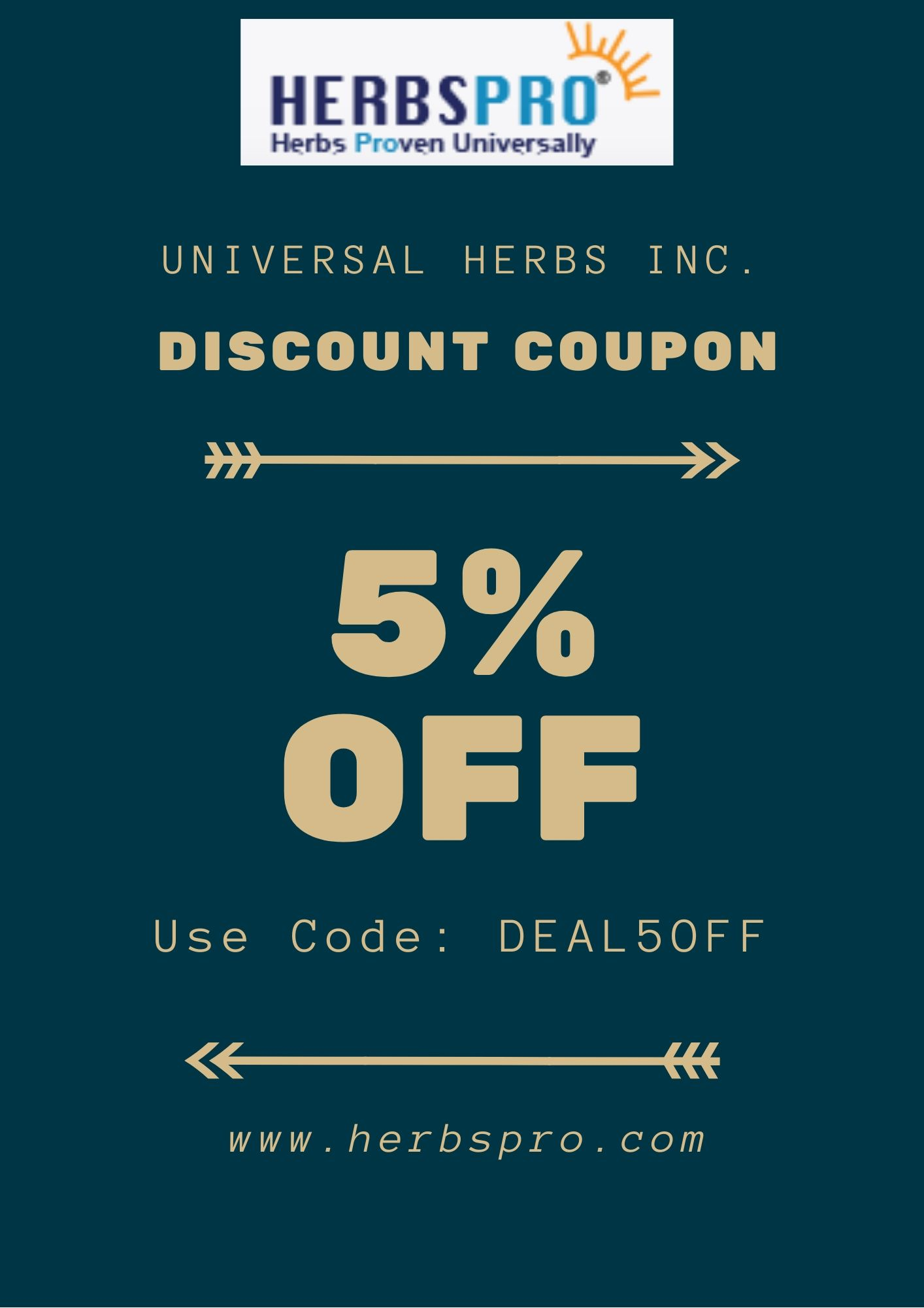 Additional 5% off on all orders