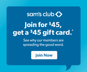 Join for $45 and Get a $45 Gift Card at Sam's Club