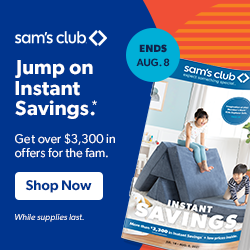 Save Over $3,300 in offers with Instant Savings at Sam's Club
