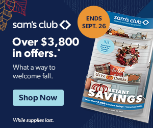 Save Over $3,800 in offers with Instant Savings at Sam's Club