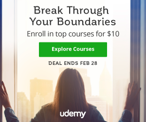 Make a major breakthrough | Top courses for $10 at Udemy!