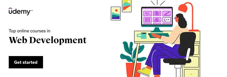 Top online courses in Web Development