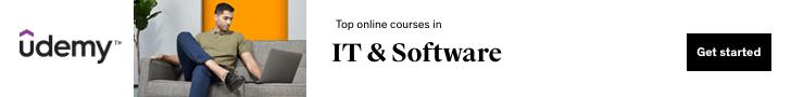 Top online courses in IT & Software