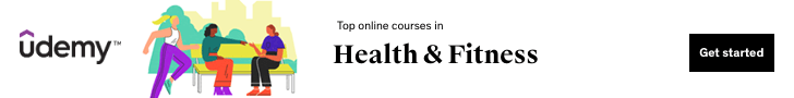 Top online courses in Health & Fitness