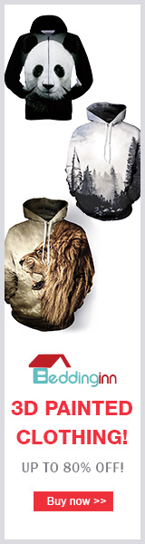 Beddinginn 3D Painted Clothing! Up to 80% Off! Visit Beddinginn.com For More Amazing Products & Surprising Discounts!