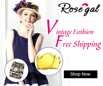 Global Free Shipping and 30-Day Unconditional Return for Vintage Fashion @rosegal.com!
