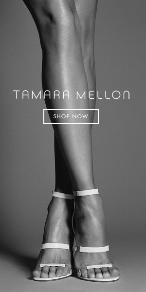 Tamara Mellon, The Frontline - Barely there straps lengthen legs and drop jaws