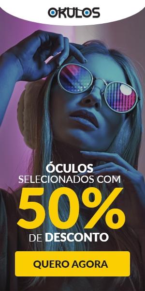 Compre óculos com cupom de 50% OFF ! Código: OKULOS