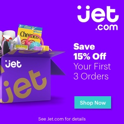 Get 15% off your first 3 orders at Jet.com