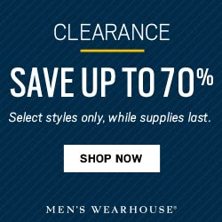 Men's Wearhouse - Clearance Sale