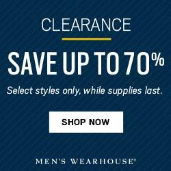 Men's Wearhouse - Clearance