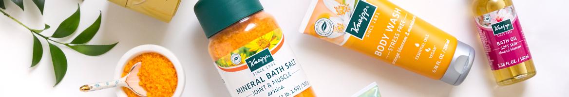 Kneipp Bath Salt, Body Wash, & Bath Oil  - 1168x200