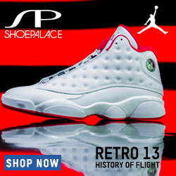 Coming 7/22: Air Jordan Retro 13 History of Flight Mens Lifestytle Shoe (White/Metallic Silver/University Red) at ShoePalace.com