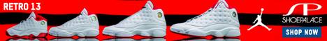 Coming 7/22: Air Jordan Retro 13 History of Flight Mens Lifestytle Shoe (White/Metallic Silver/University Red) at ShoePalace.com