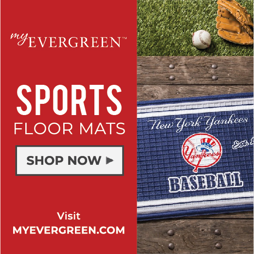 Welcome to MyEvergreen Sports: Sports Theme Mats for Your Favorite Team.